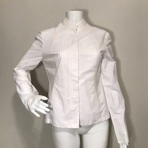 Narciso Rodriguez White Pinstriped Top US Size 6